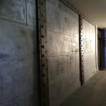 Hall immeuble métallisé