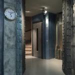 Double IPN en incrustation et ascenseur métal