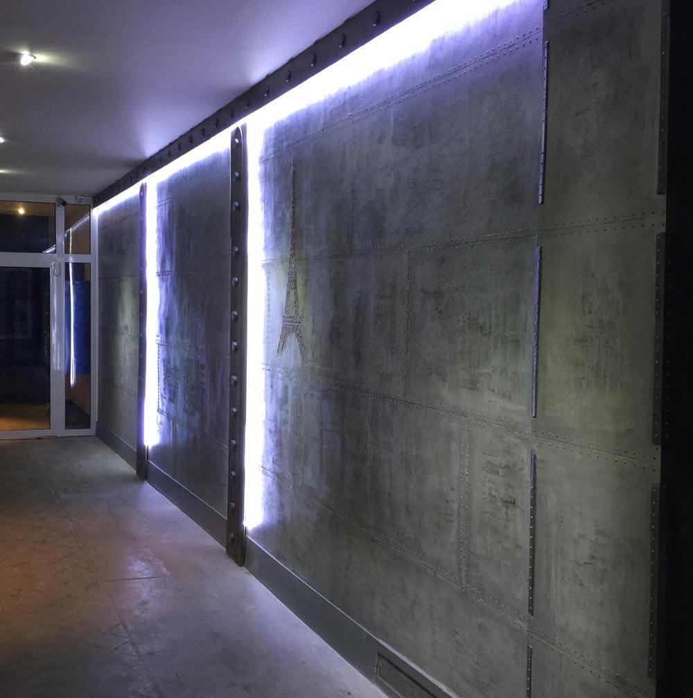 un hall d 39 immeuble style industriel pour une touche. Black Bedroom Furniture Sets. Home Design Ideas