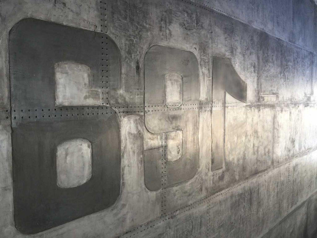 les murs style industriel métallique style eiffel