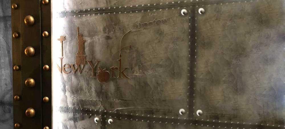 déco style eiffel ipn et murs métal