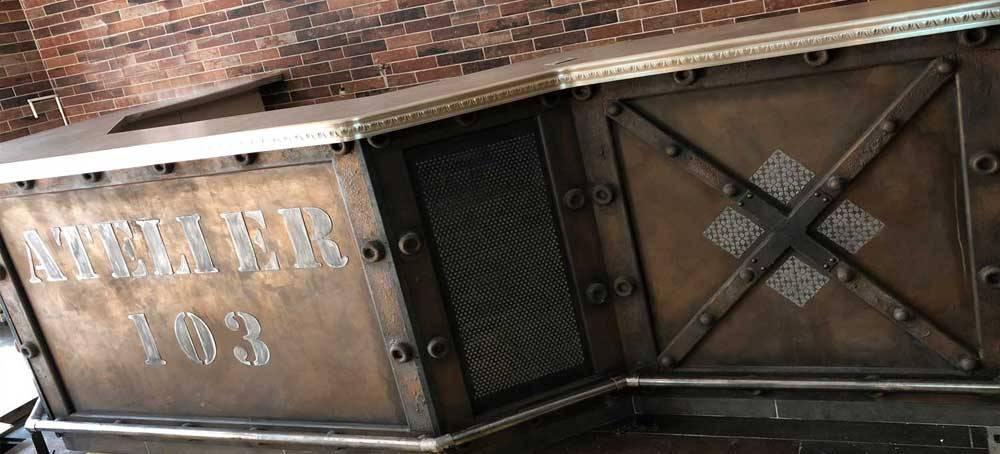 Tableau style industriel  pour bar brasserie