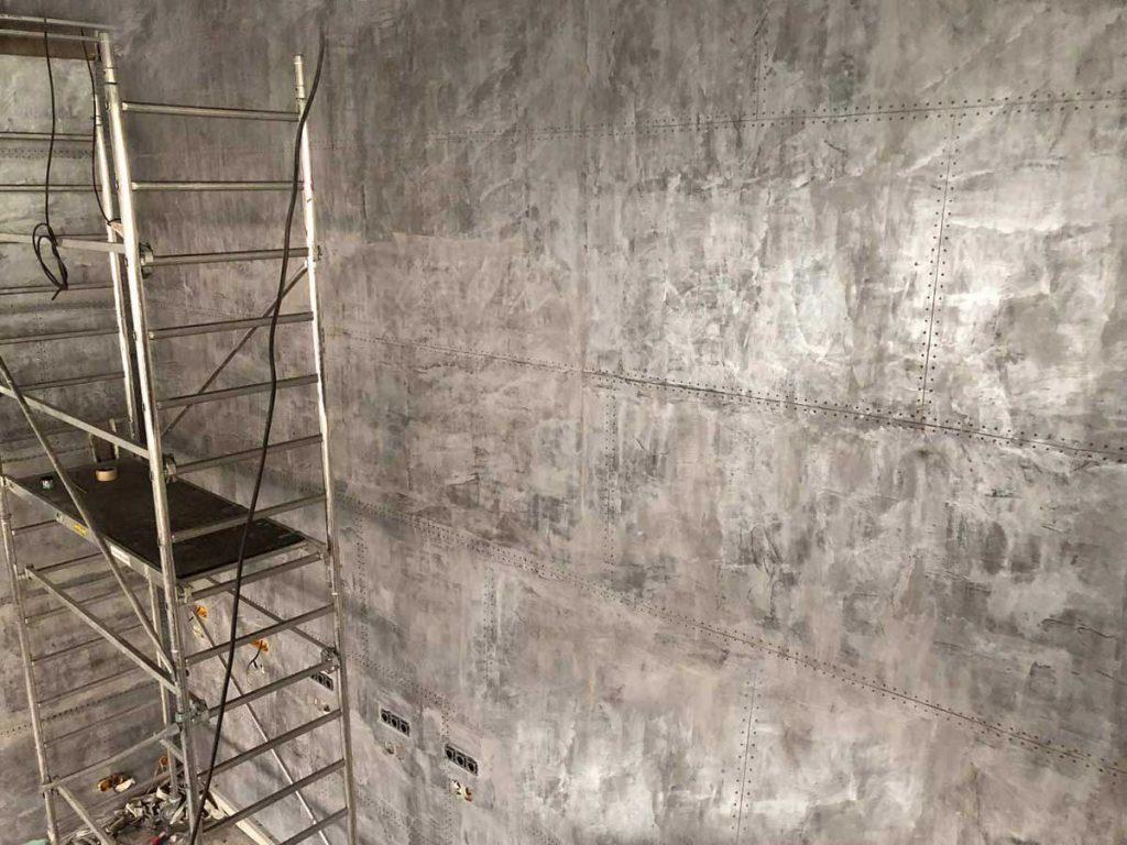 murs style industriel murs métal